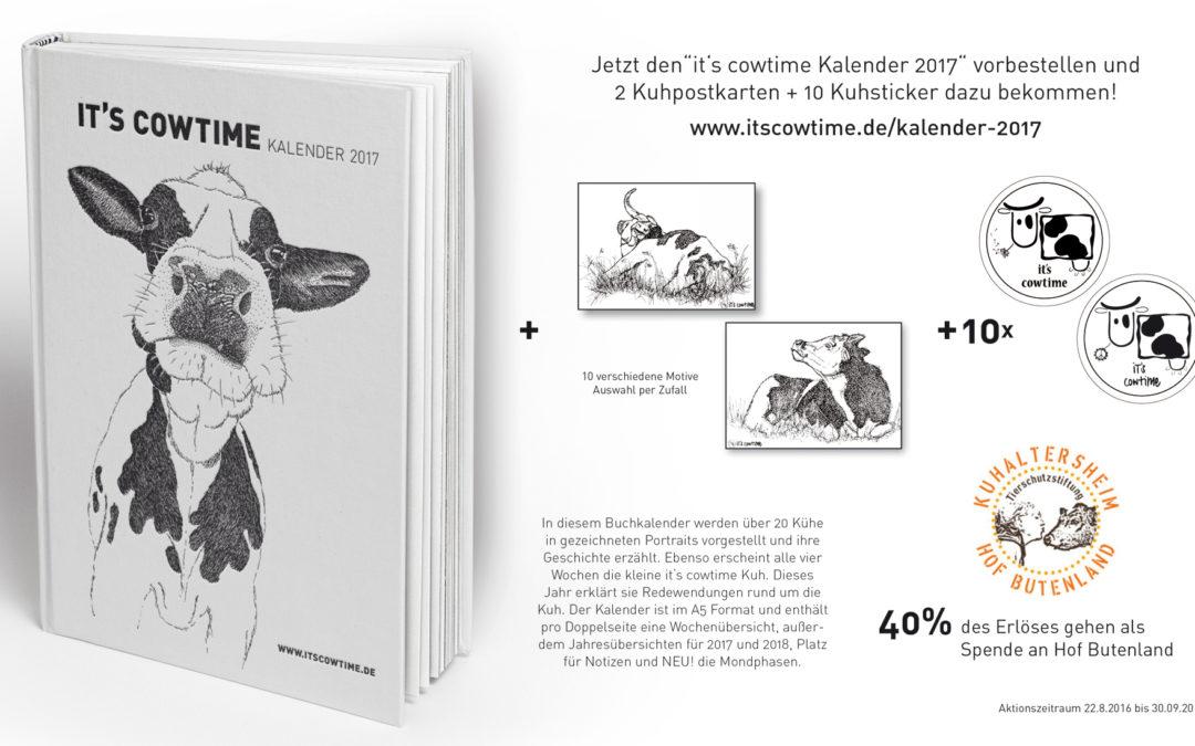 Der it's cowtime Kalender 2017 zum Vorbestellen